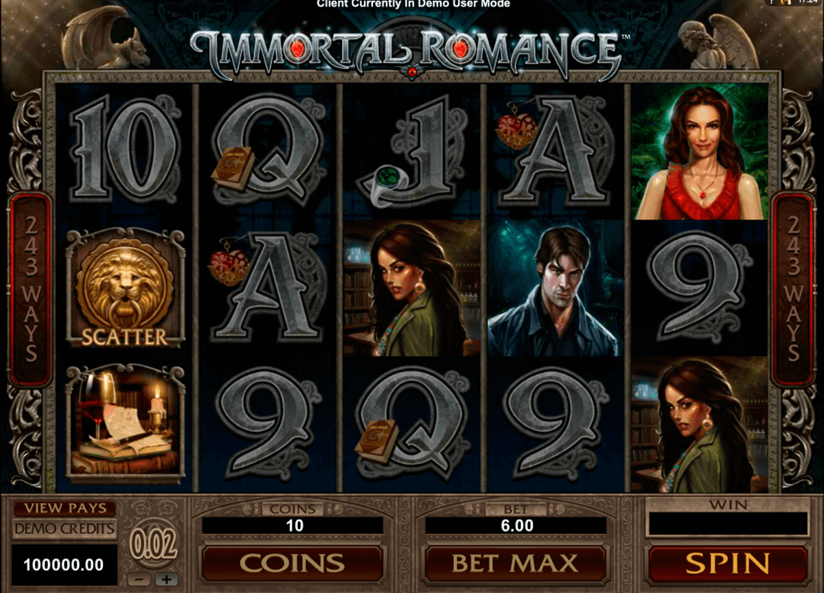 immortal romance microgaming casino slot spel