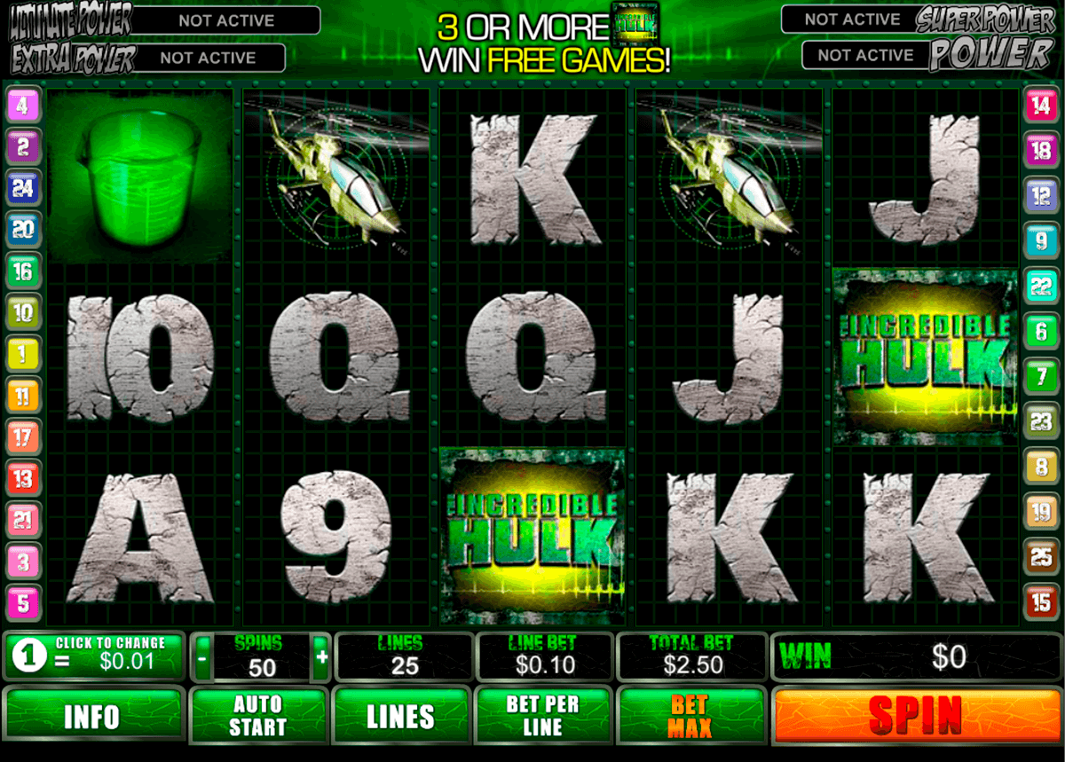 incredible hulk playtech casino slot spel