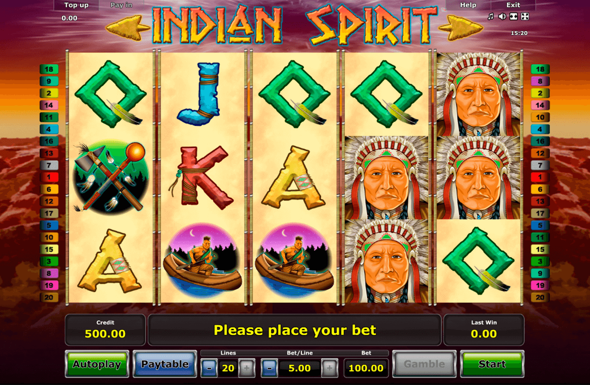 indian spirit novomatic casino slot spel