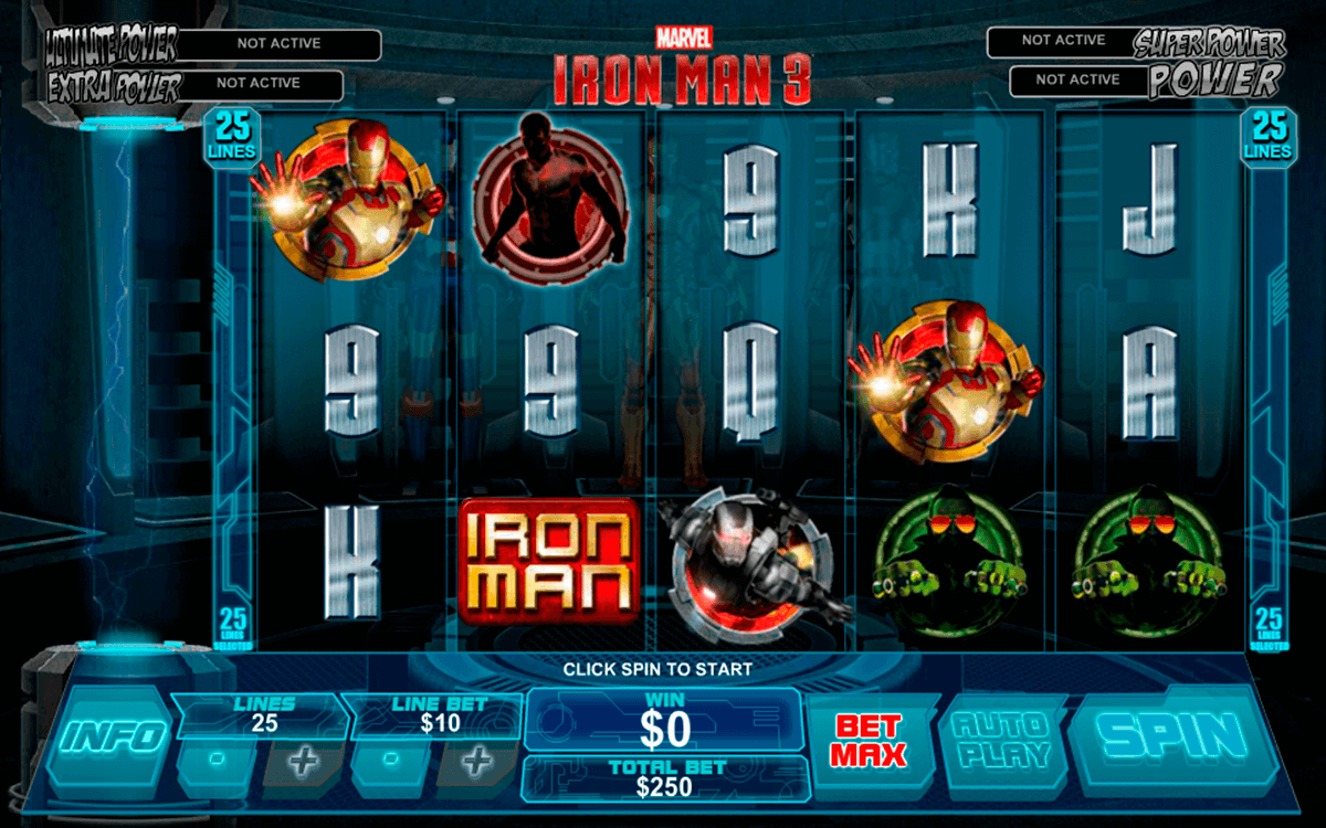 iron man 3 playtech casino slot spel
