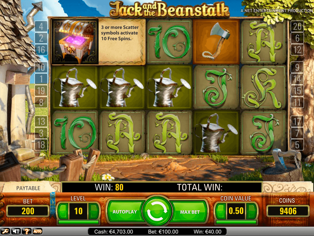 jack and the beanstalk netent casino slot spel