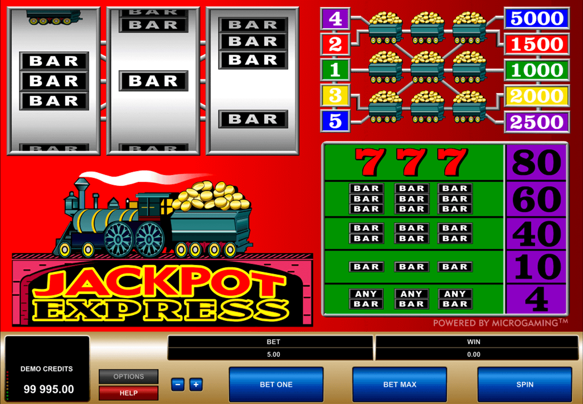 jackpot express microgaming casino slot spel