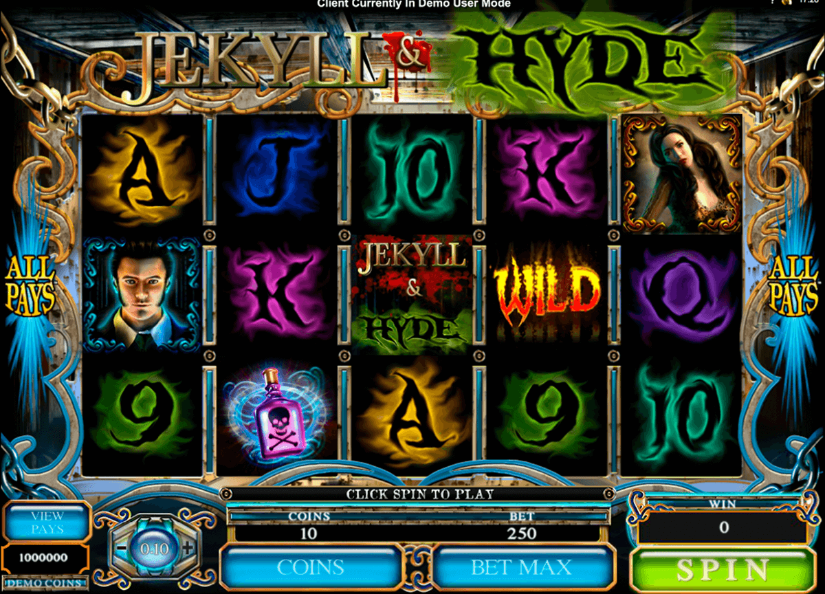 jekyll hyde microgaming casino slot spel