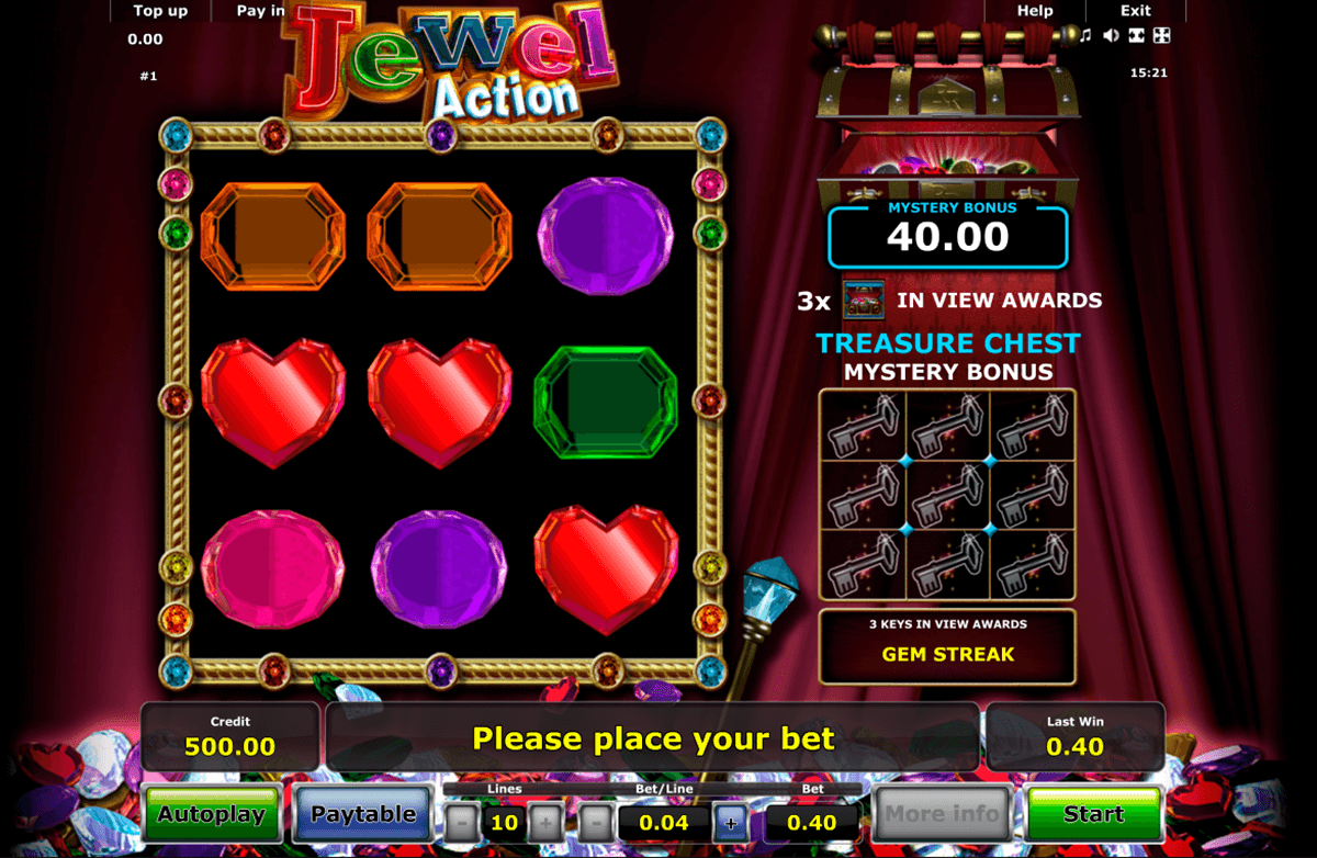 jewel action novomatic casino slot spel