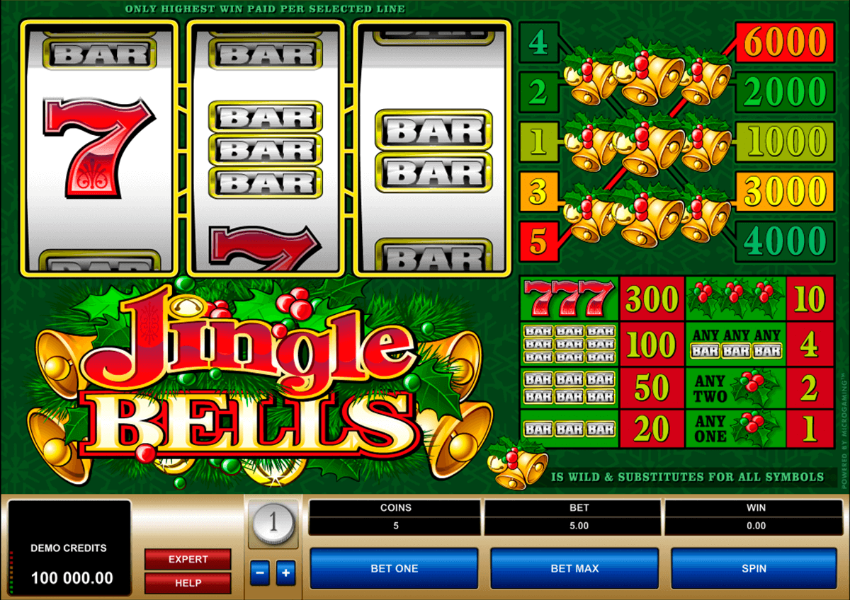 jingle bells microgaming casino slot spel