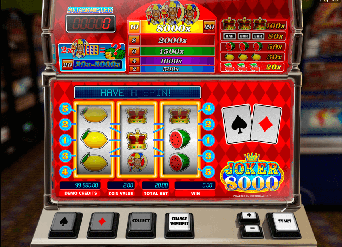 joker 8000 microgaming casino slot spel
