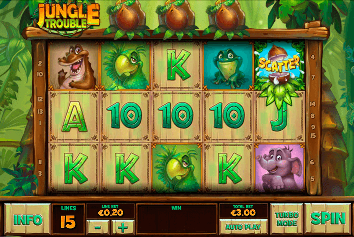 jungle trouble playtech casino slot spel