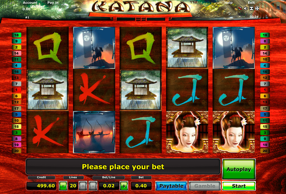 katana novomatic casino slot spel