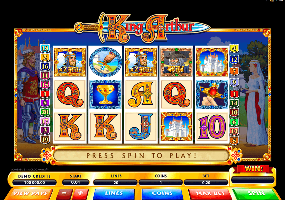 king arthur microgaming casino slot spel