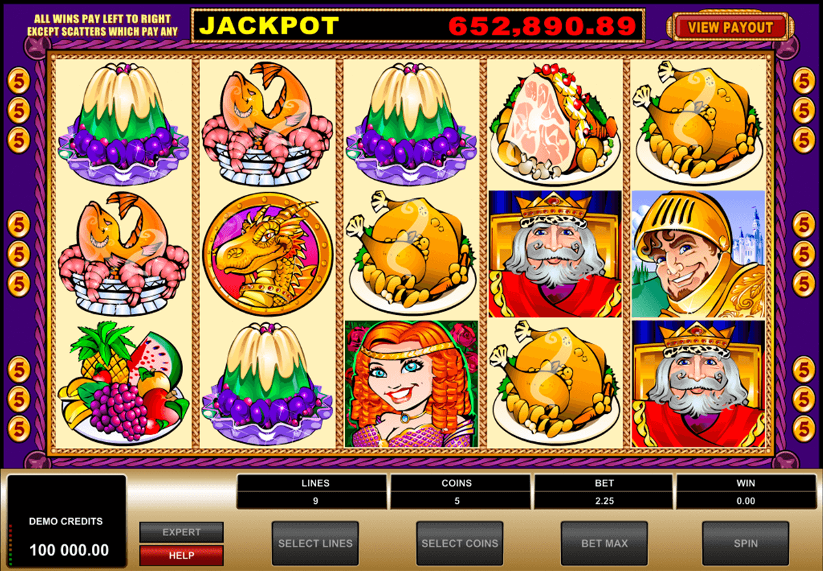king cashalot microgaming casino slot spel