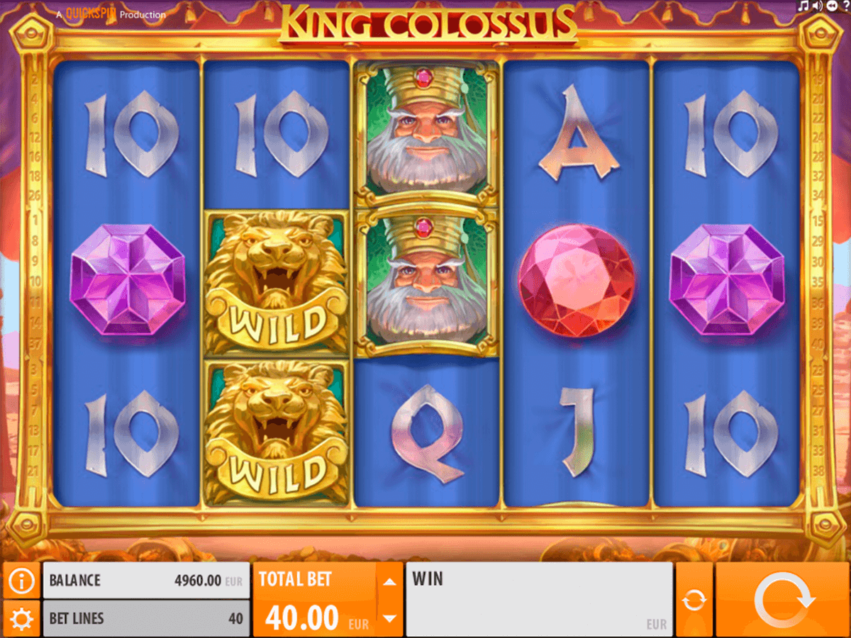 king colossus quickspin casino slot spel