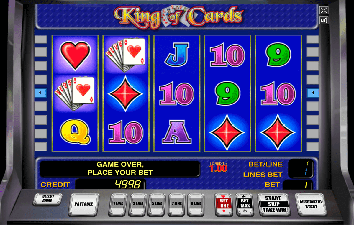 king of cards novomatic casino slot spel
