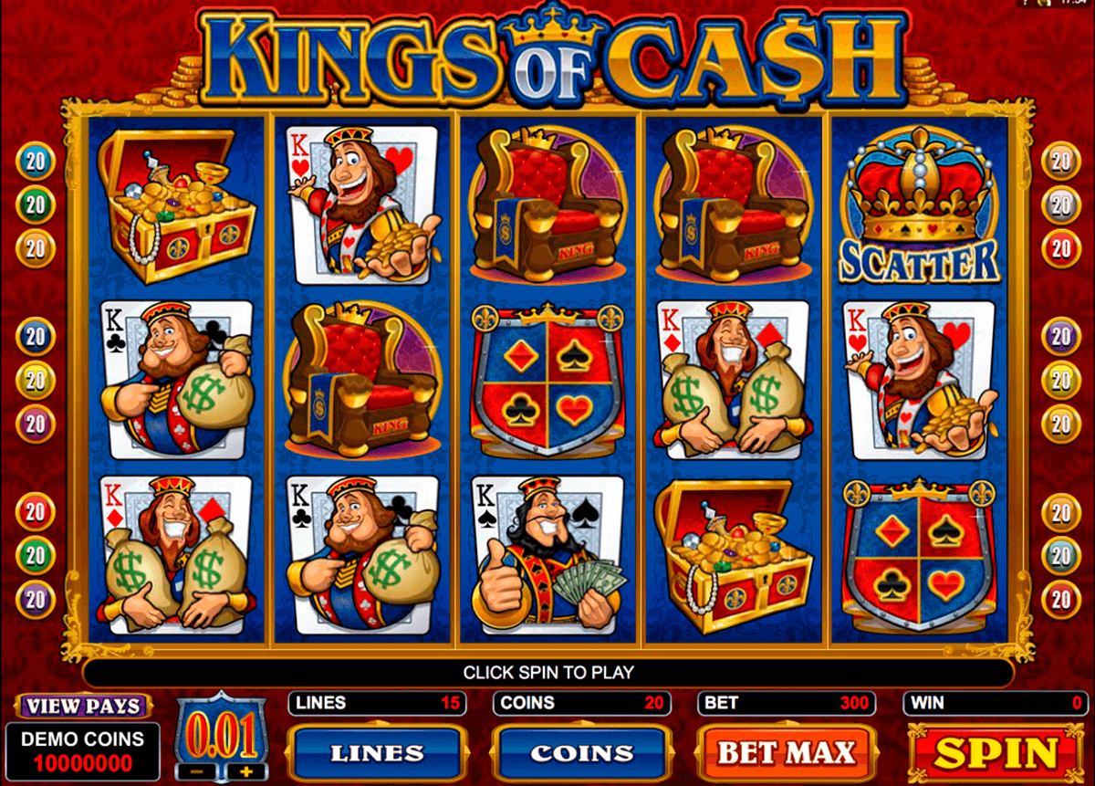 kings of cash microgaming casino slot spel