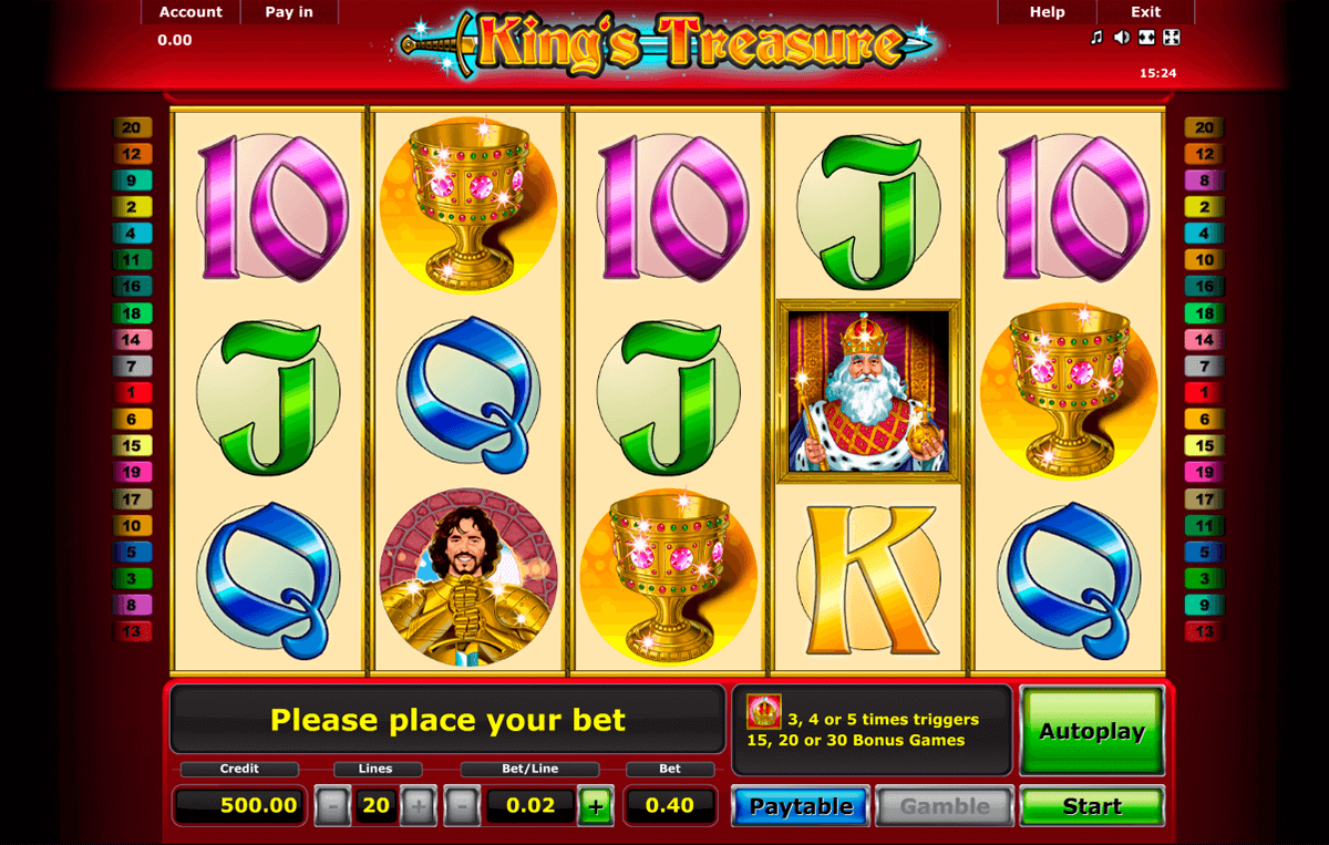 kings treasure novomatic casino slot spel