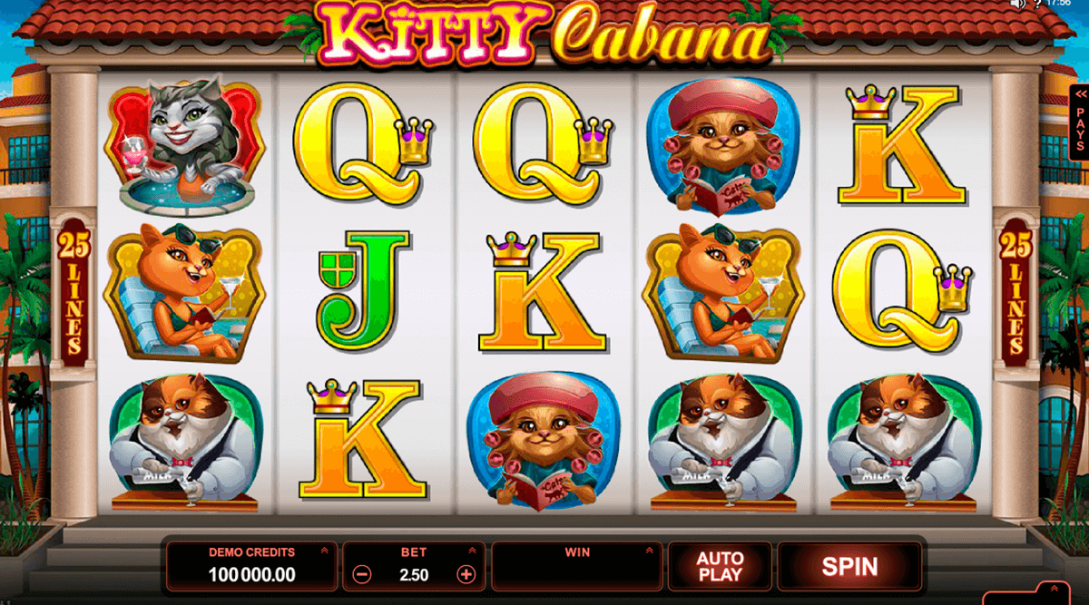 kitty cabana microgaming casino slot spel