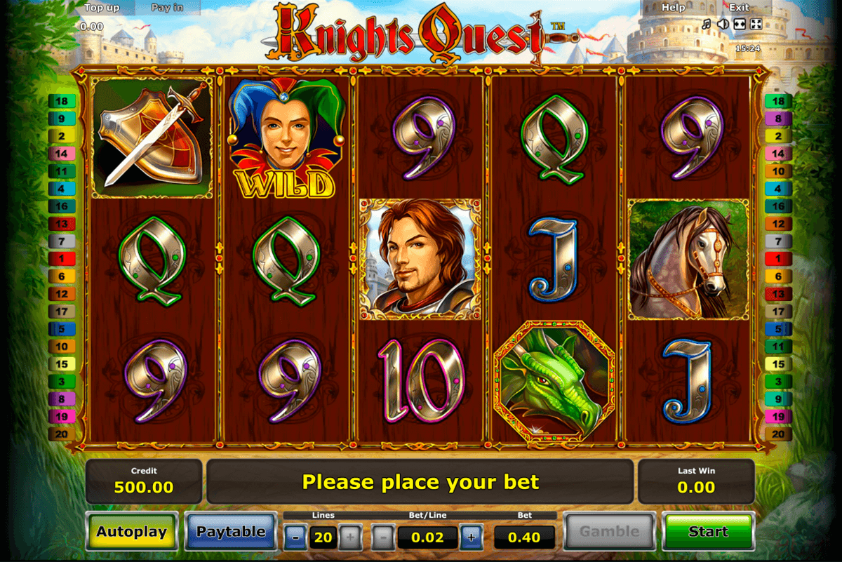 knights quest novomatic casino slot spel