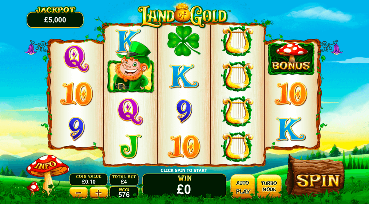 land of gold playtech casino slot spel