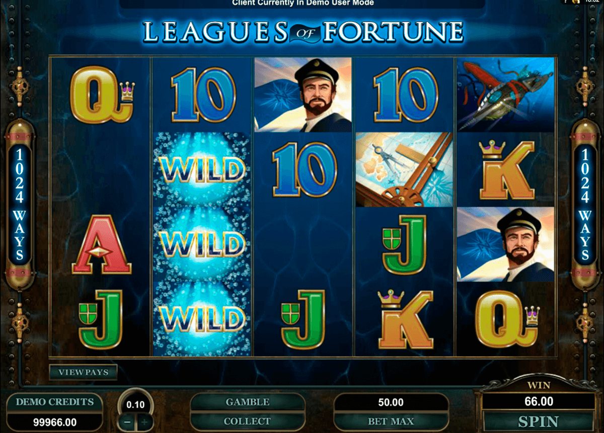 leagues of fortune microgaming casino slot spel