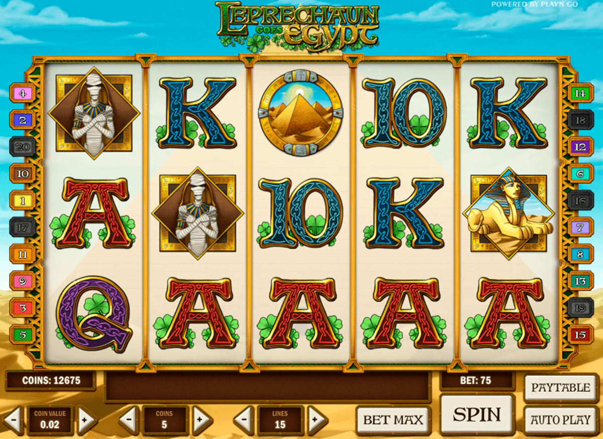 leprechaun goes egypt playn go casino slot spel