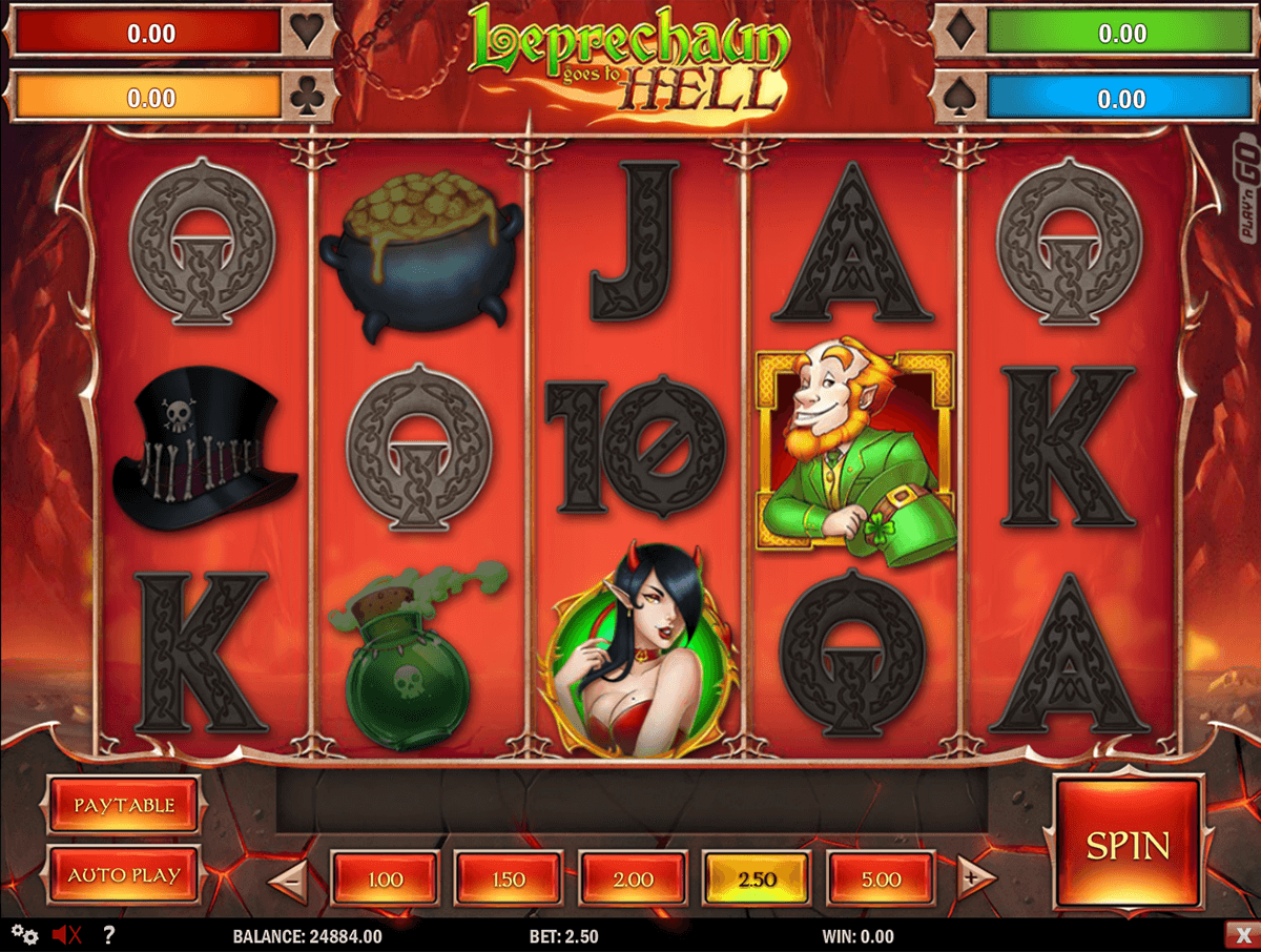 leprechaun goes to hell playn go casino slot spel