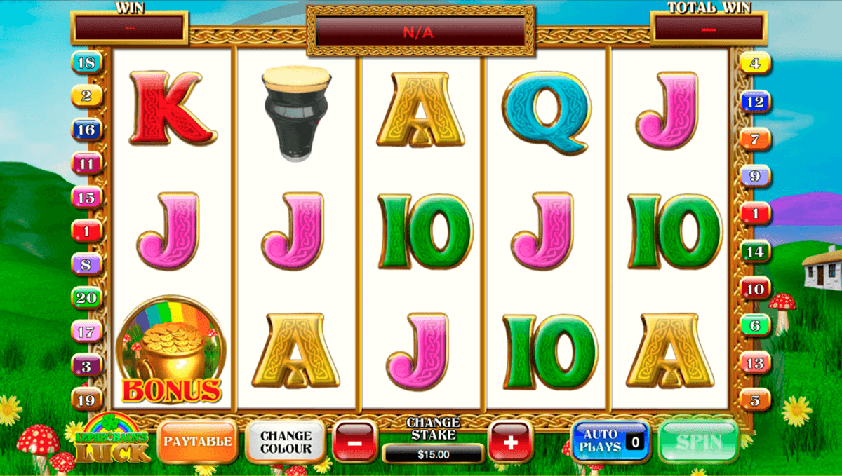 leprechauns luck playtech casino slot spel
