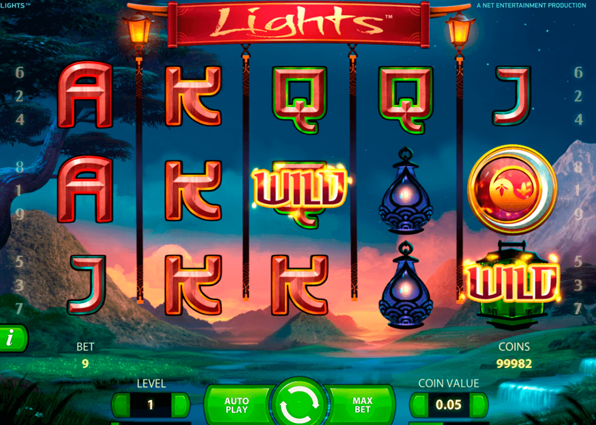 lights netent casino slot spel