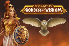 logo age of the gods goddess of wisdom playtech spelauatomat