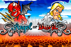 logo angel or devil playtech spelauatomat