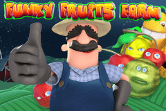 logo funky fruits farm playtech spelauatomat