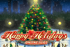 logo happy holidays microgaming spelauatomat