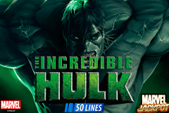 logo incredible hulk playtech spelauatomat
