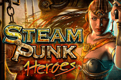 logo steam punk heroes microgaming spelauatomat