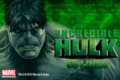 logo the incredible hulk 50 lines playtech spelauatomat