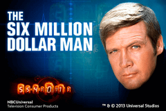 logo the six million dollar man playtech spelauatomat