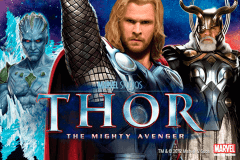logo thor the mighty avenger playtech spelauatomat