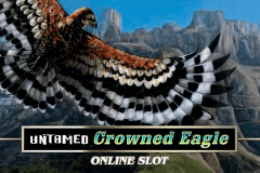 logo untamed crowned eagle microgaming spelauatomat