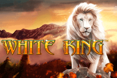 logo white king playtech spelauatomat