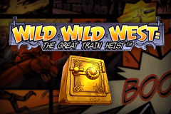 logo wild wild west the great train heist netent spelauatomat