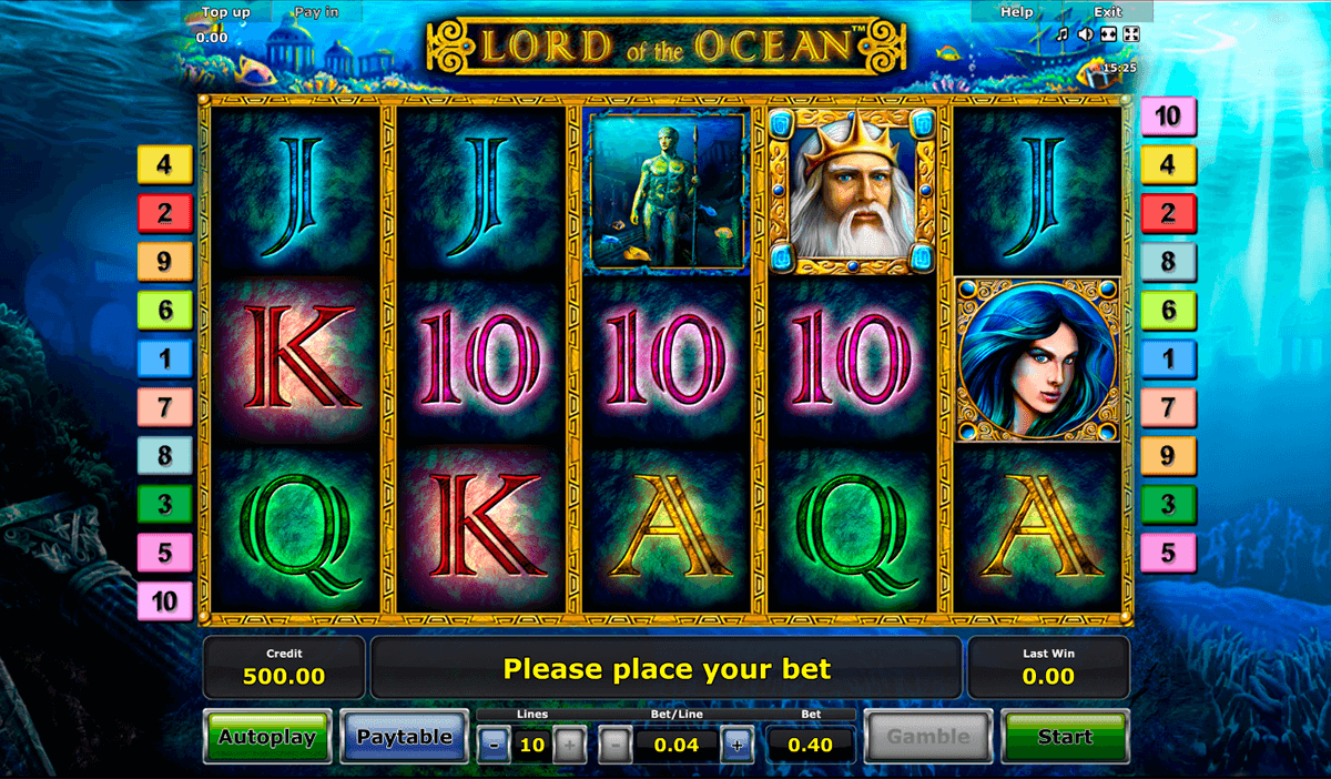 lord of the ocean novomatic casino slot spel