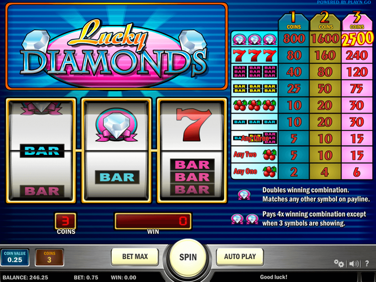 lucky diamonds playn go casino slot spel