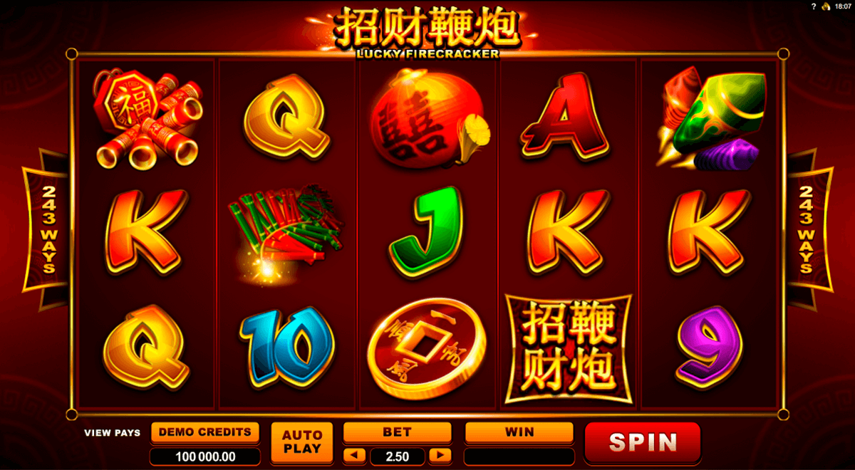 lucky firecracker microgaming casino slot spel