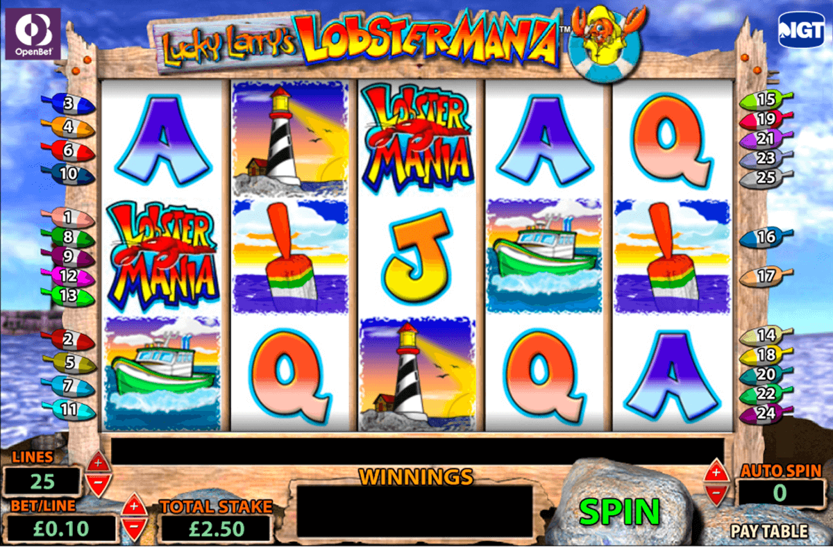 lucky larrys lobstermania igt casino slot spel