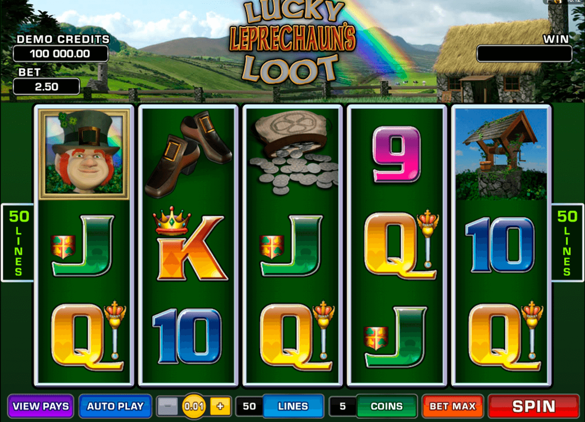 lucky leprechauns loot microgaming casino slot spel