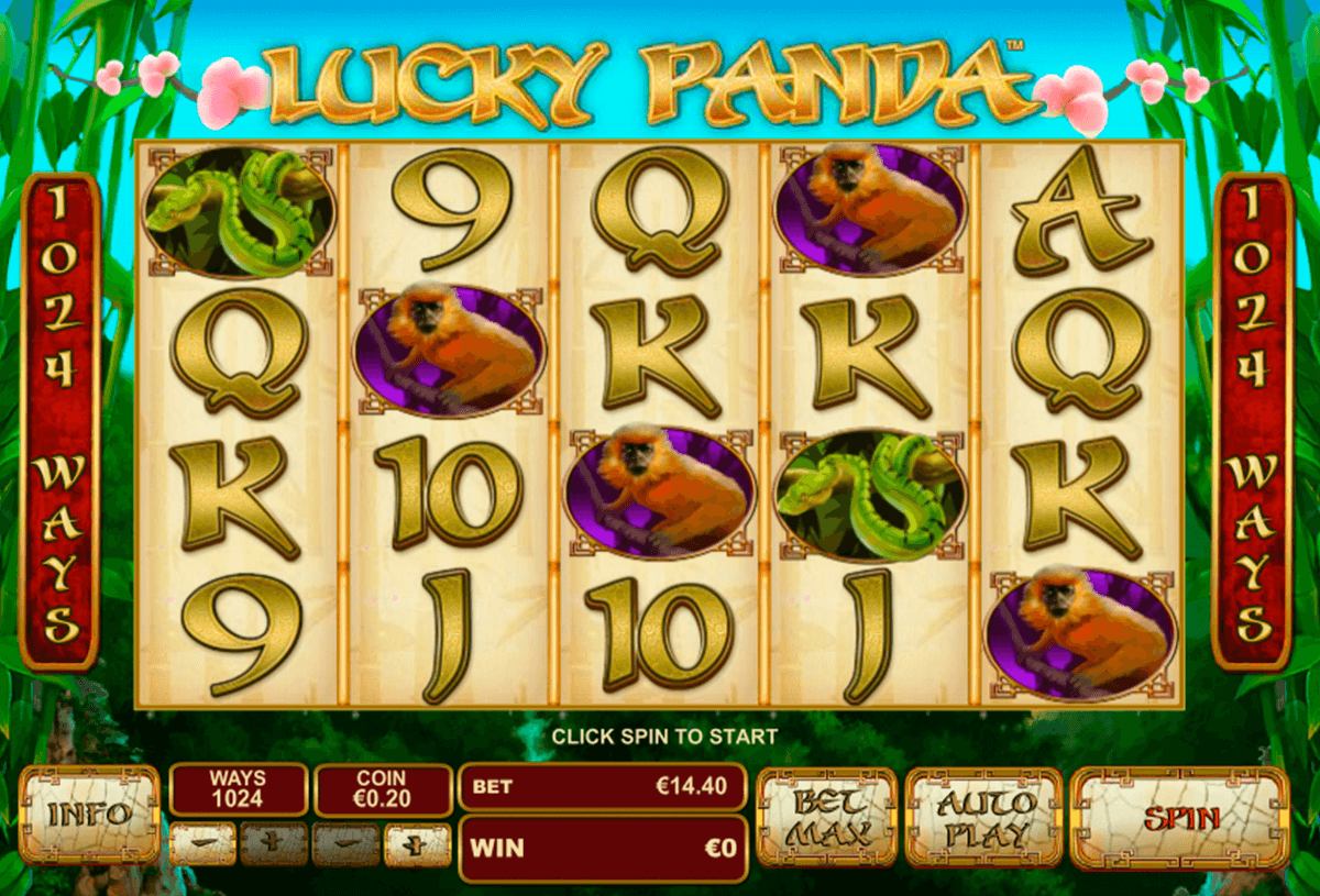 lucky panda playtech casino slot spel