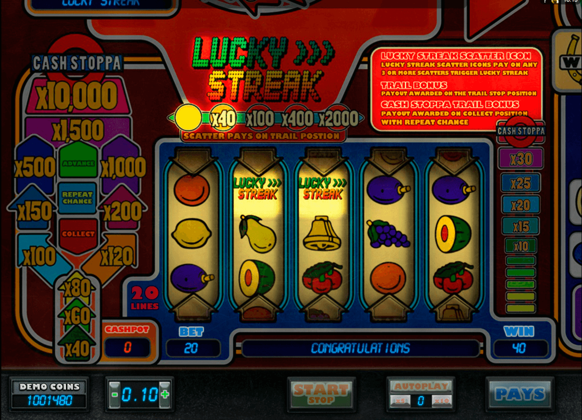 lucky streak microgaming casino slot spel
