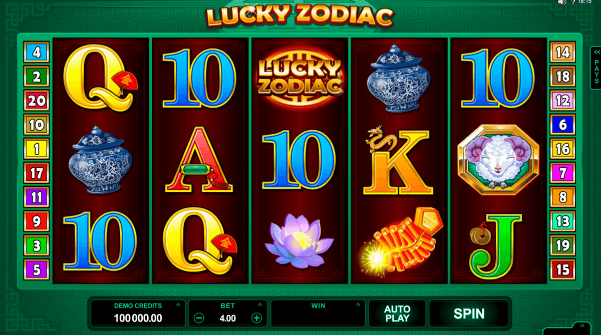 lucky zodiac microgaming casino slot spel