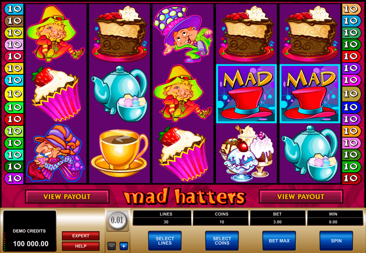 mad hatters microgaming casino slot spel