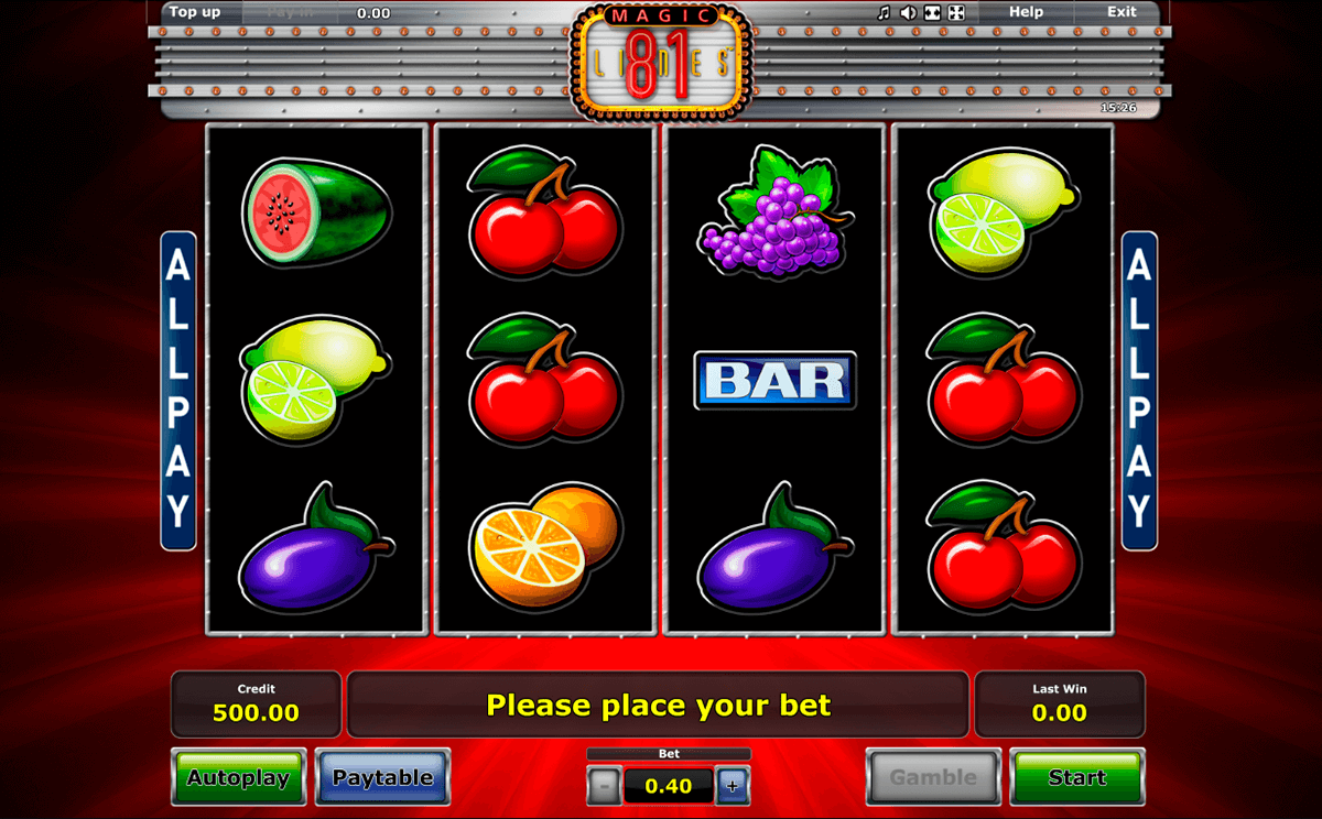 magic 81 novomatic casino slot spel
