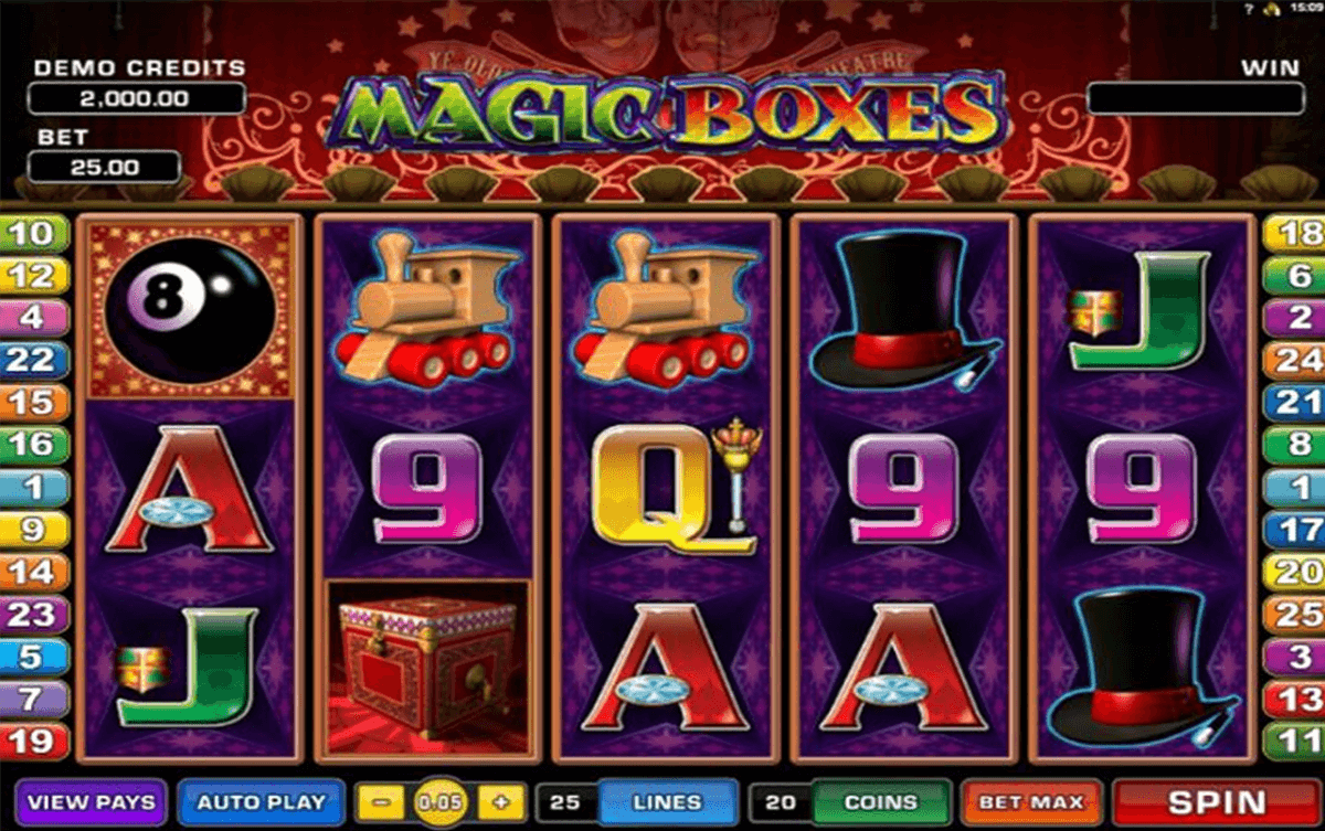 magic boxes microgaming casino slot spel