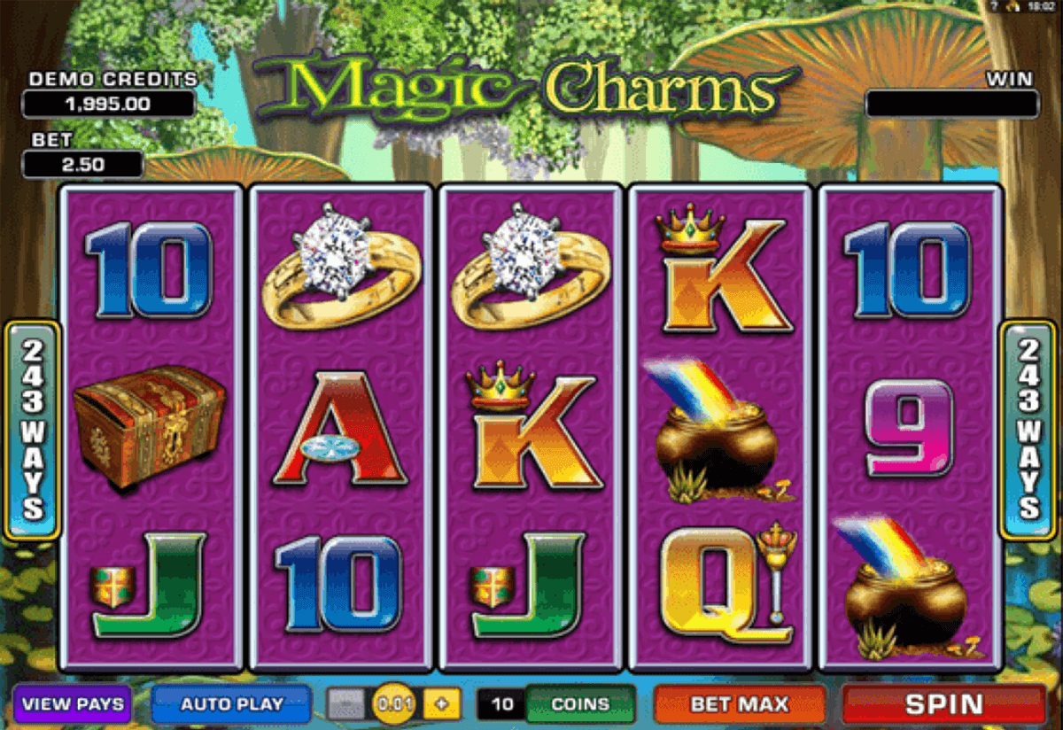 magic charms microgaming casino slot spel